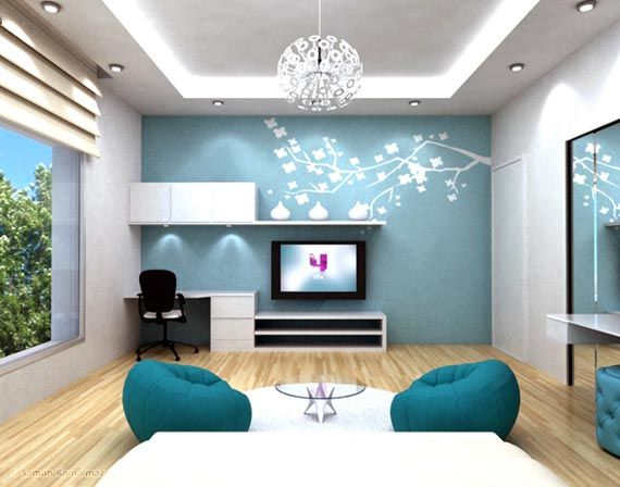 Blue Bedrooms For Teenage Girls Extra Ordinary Blue Teenager Girls Bedroom Interior Designs