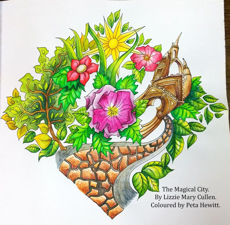 The Magical City With Derwent Inktense Pencils