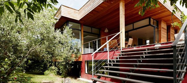 Extension maison en bois  73 m2 en plus Extensions and Architecture