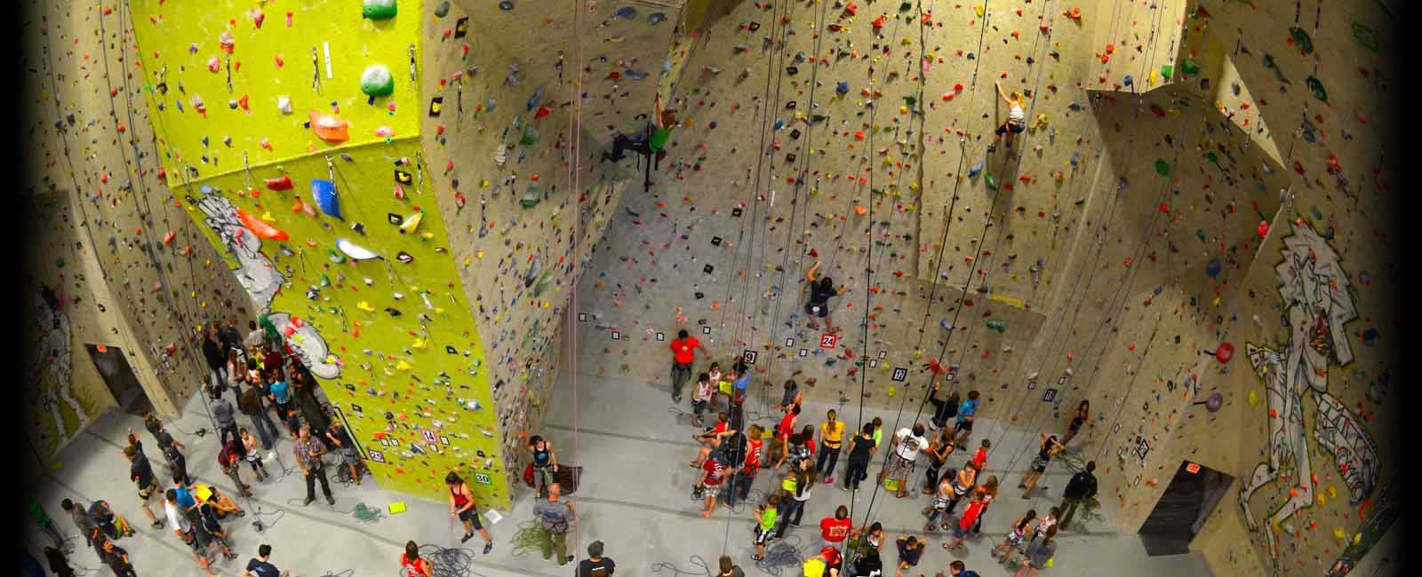 City rock climbing for the family indoor climbing gym
