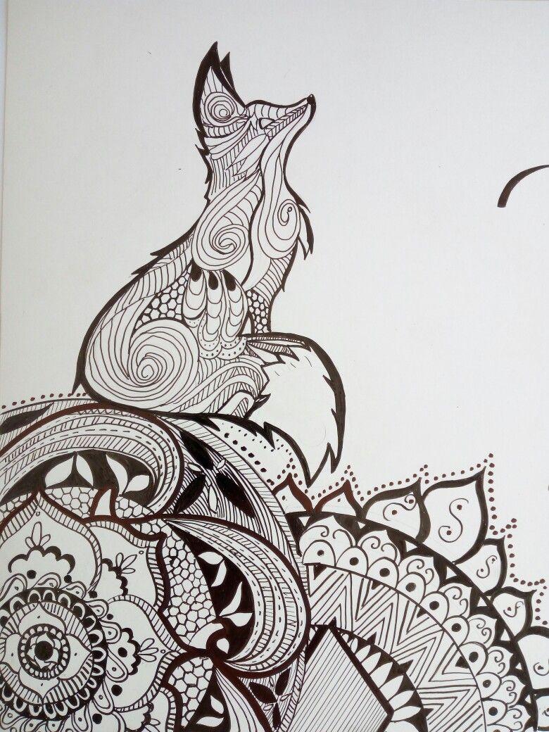 Zorro Mandala Dibujos Con Mandalas Mandalas Para Colorear