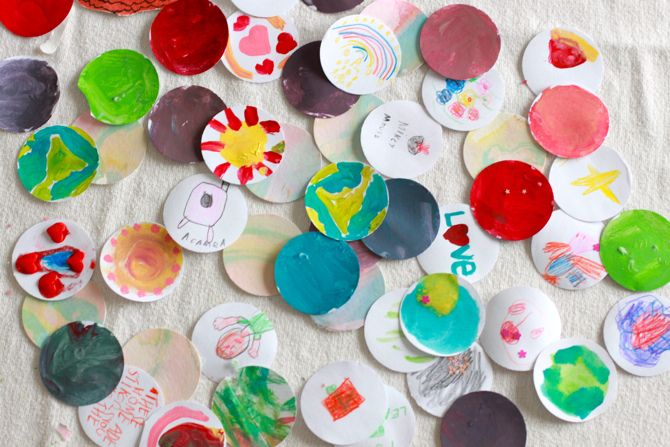 Homemade Stickers! Just Glue, Vinegar And Water. A Blast To Make With Kiddos