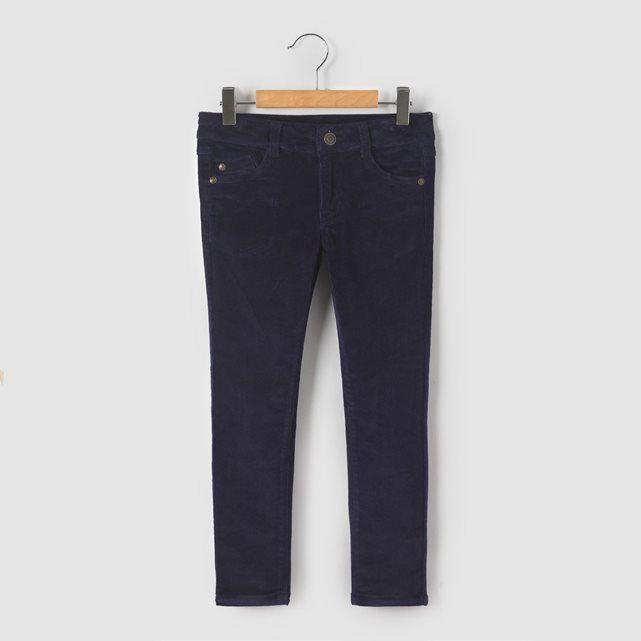 Pantalon slim velours 3-12 ans R essentiel  45c1141f740