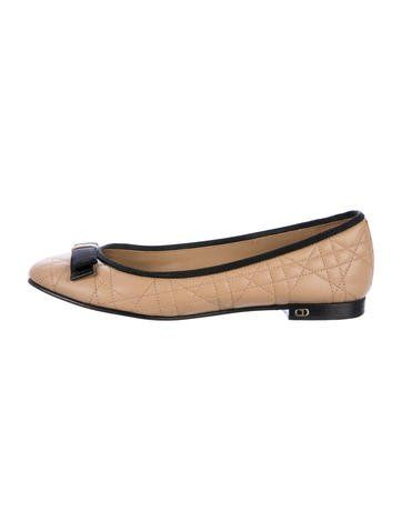 Christian Dior Leather Round-Toe Flats buy cheap best store to get 0X0DLWXj
