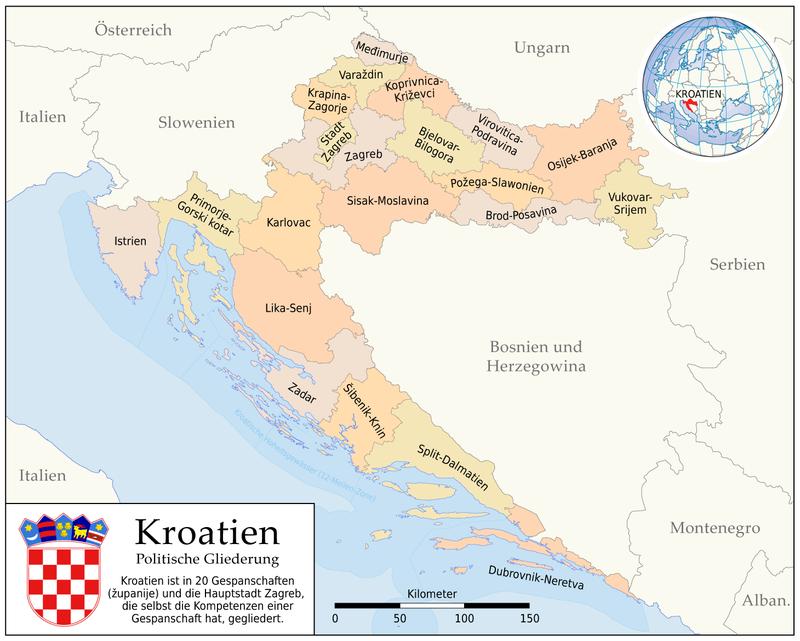 Kroatien Wikipedia Kroatien Kroatien Karte Zadar