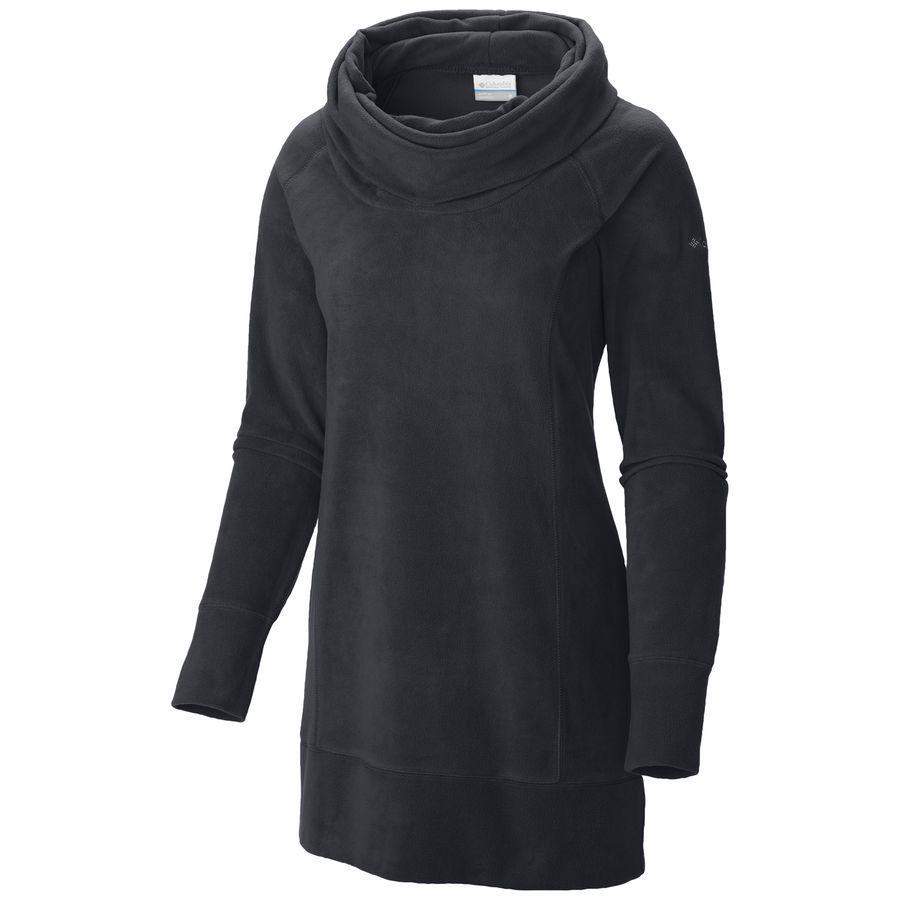 Columbia - Glacial Fleece Cowl Tunic Sweater - Women's - Black ...