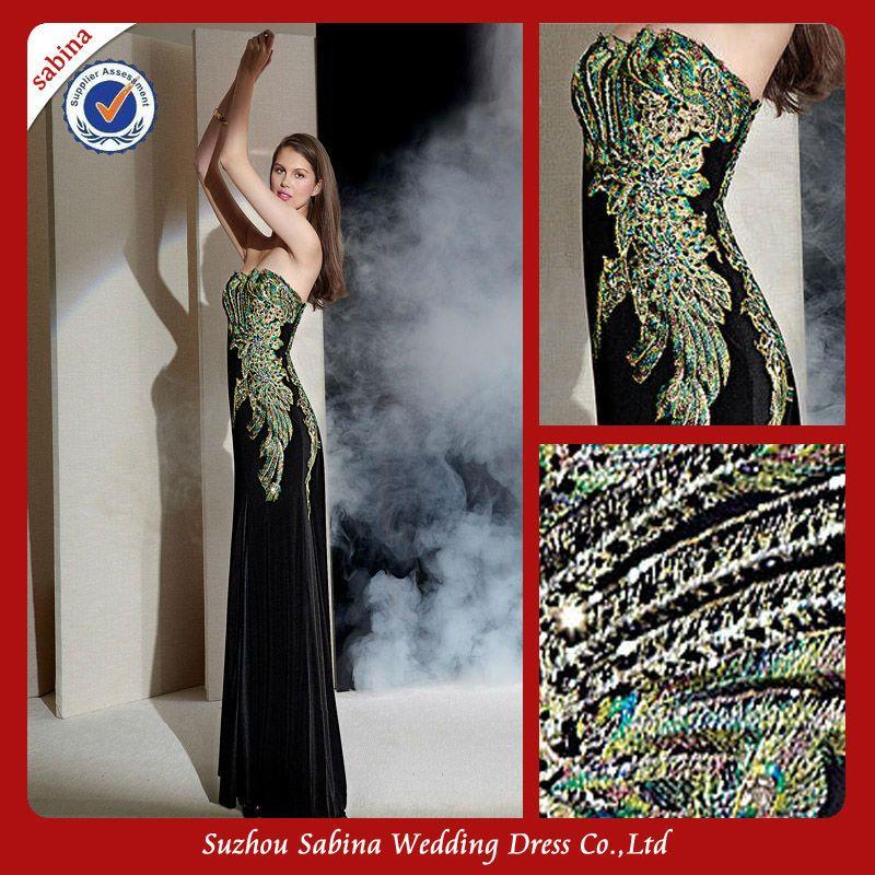 Strapless Peacock Prom Dress