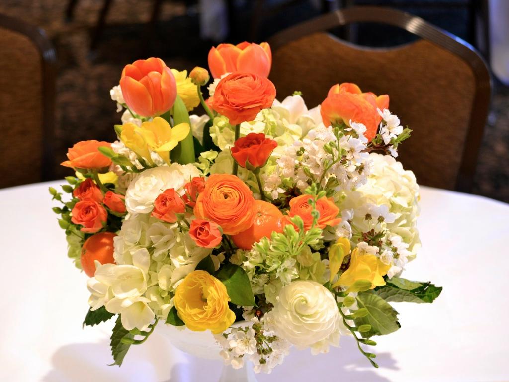 Orange Green White Yellow Clementine Wedding Flower