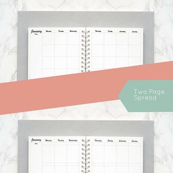 Week and Month Box Style and Hourly Layout Happy Planner Planner - hourly calendar