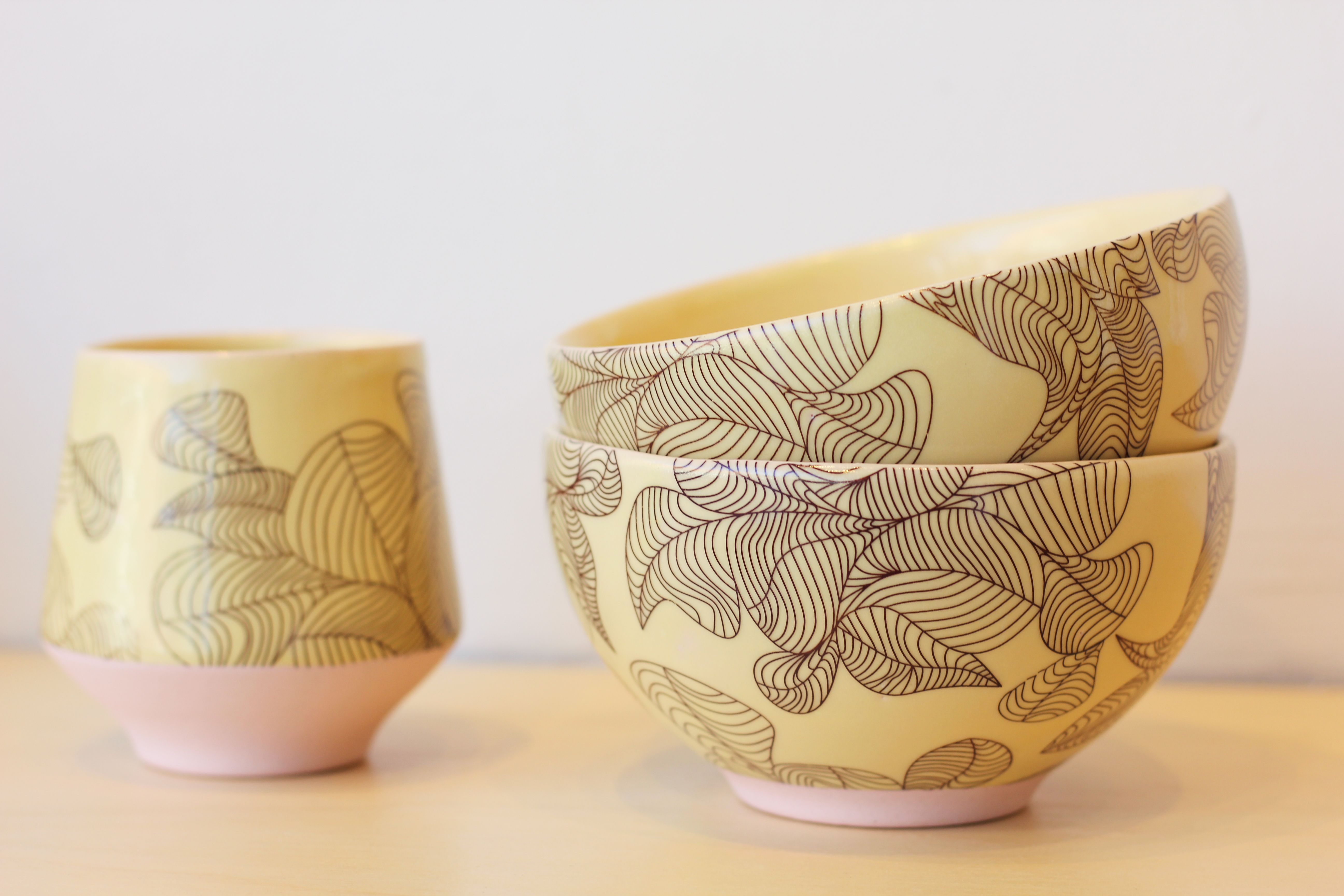 Get ready for Spring with some sweet pastel dinnerware by Andrew Gilliat! (tumbler $48, bowl $52)