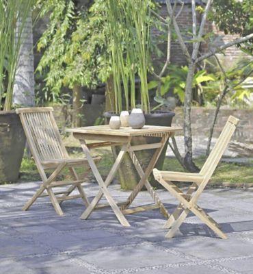 Garden Pleasure Teak Garten Tisch 70x70 Balkon Esstisch Holz Möbel