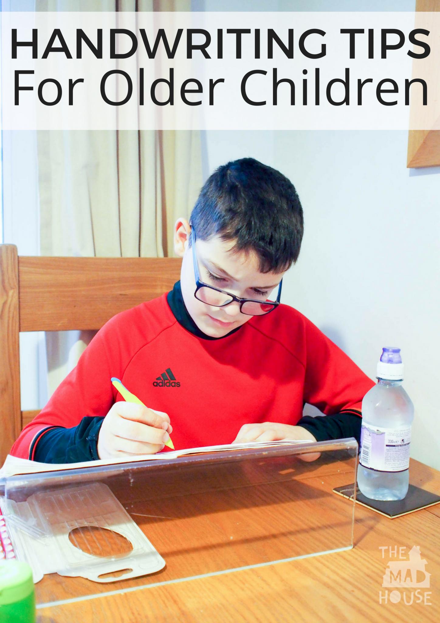 Handwriting Tips For Older Children