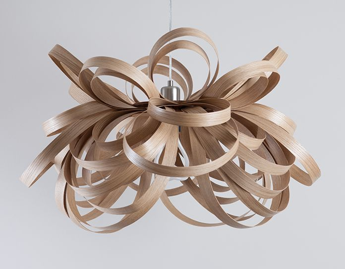 Sustainable Steam Bent Lamp Shades Oswietlenie