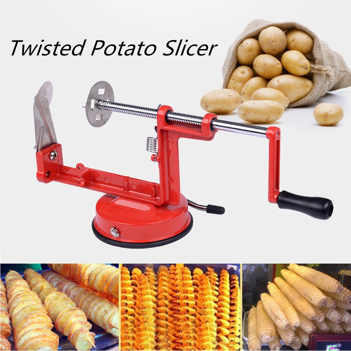 Hand Rotate Manual Spiral Twisted Chips Slicer Potato Vegetable ...