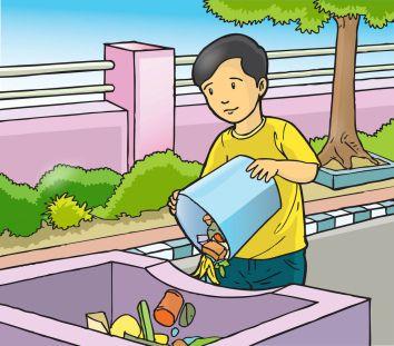 Image Result For Gambar Membuang Sampah Pada Tempatnya Gambar Gadis Animasi Ide Ruang Kelas