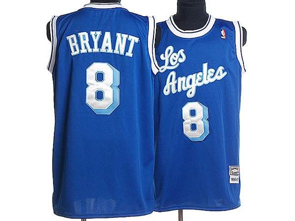 6ebbe4822a1 Mitchell and Ness Lakers #8 Kobe Bryant Stitched Blue Throwback NBA Jersey