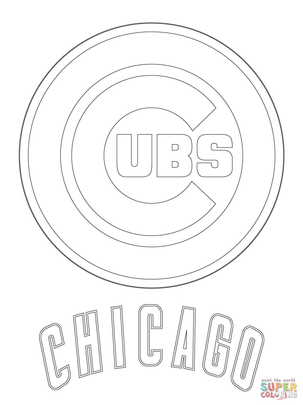 Chicago Cubs Logo Coloring Page Free Printable Coloring Pages Baseball Coloring Pages Coloring Pages Chicago Cubs