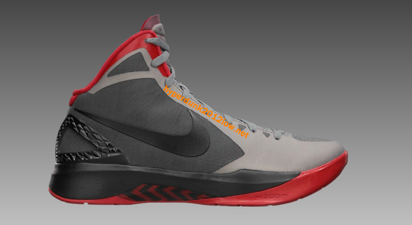 cheap for discount 00467 d44c9 Buy Nike Zoom Hyperdunk 2011 Cool Grey Black Sport Red 454138 004 for sale