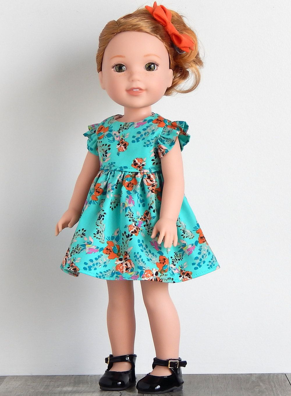 21384d593 Best 12 14.5 inch Doll Clothes-Green Floral Dress fits like Wellie ...