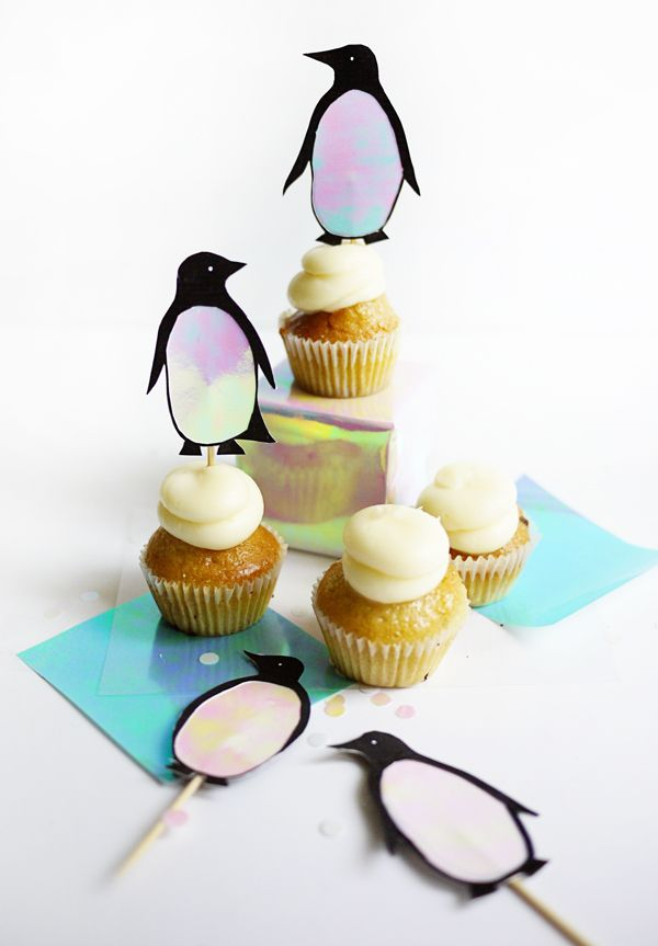 Printable Penguin Cupcake Toppers Oh Happy Day Penguin Cake