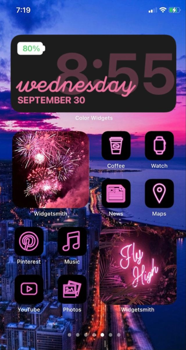 Pink iOS 14 App Icon Pack | Neon Aesthetic iOS 14 Icons ...
