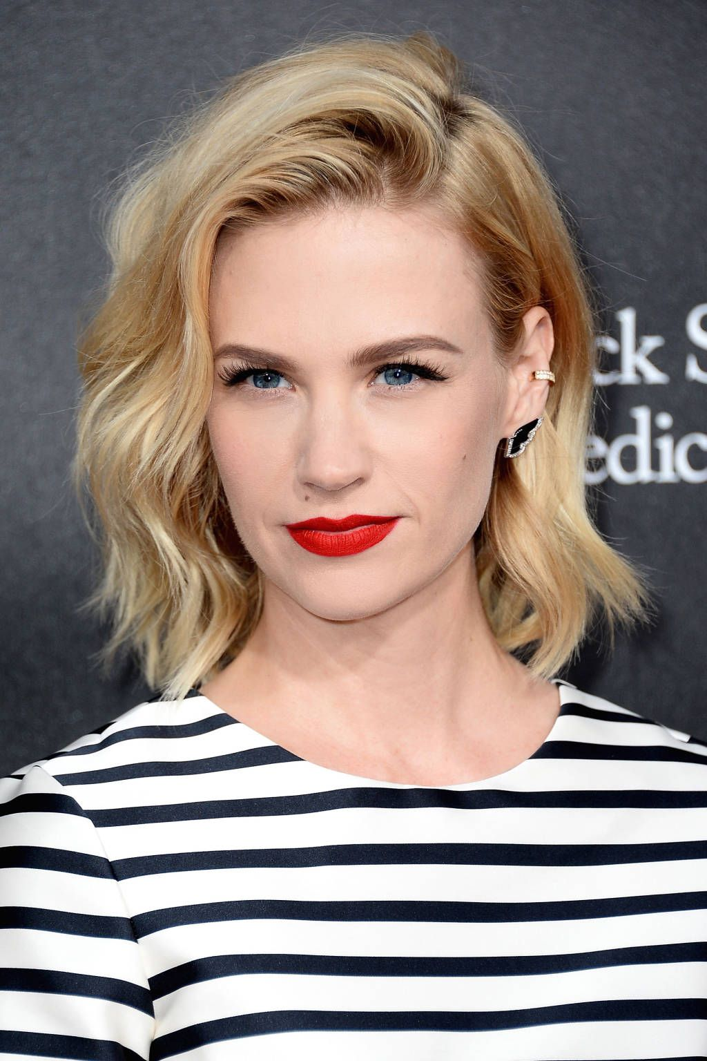Todayus beauty secret january jones hair matte red lips and
