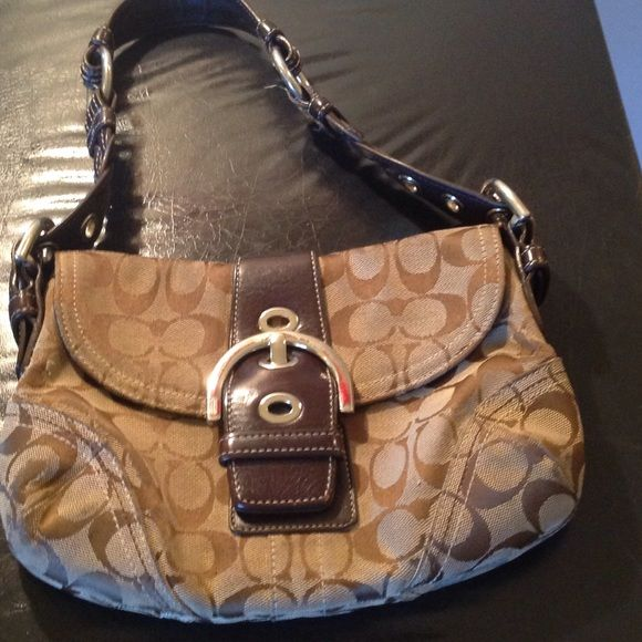 Authentic coach No rips or tears needs a little cleaning up Coach Bags