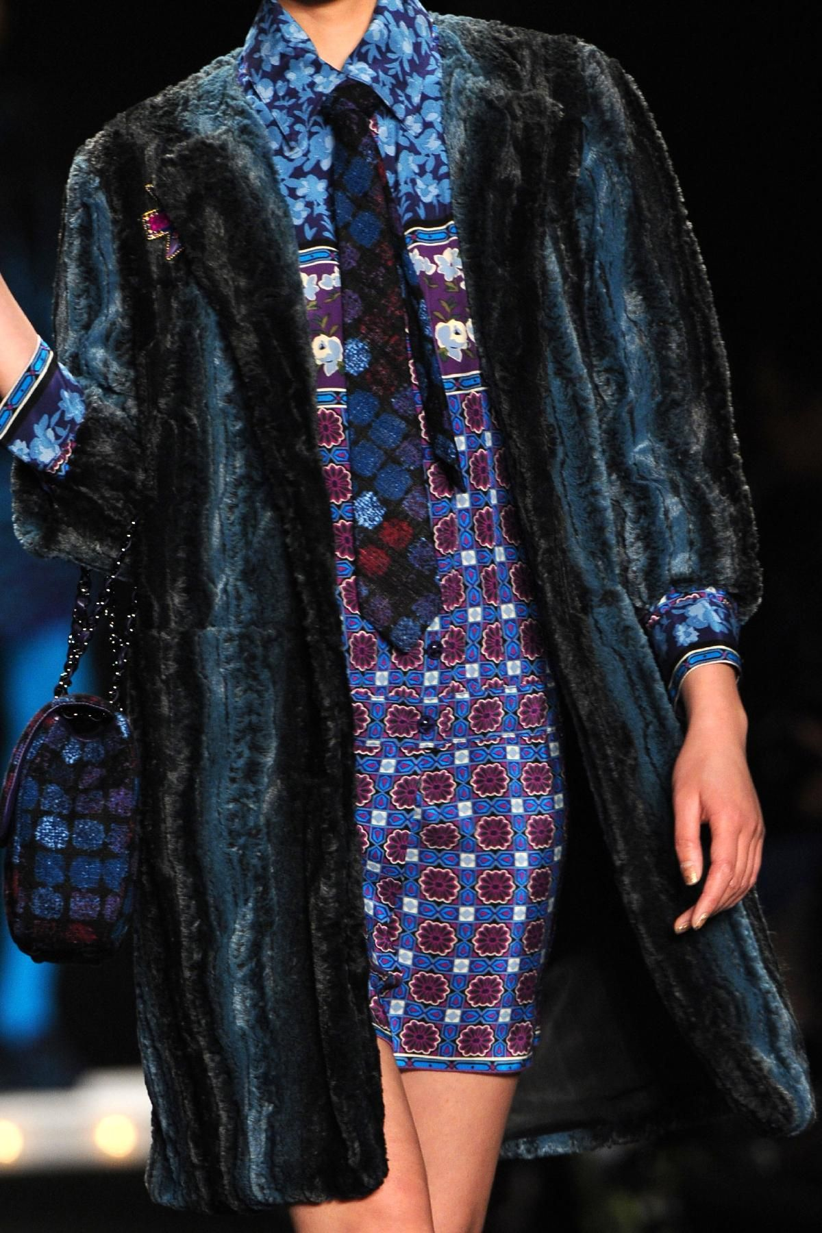 Love the pattern juxtapositions. Anna Sui Fall 2013 RTW Collection - Fashion on TheCut