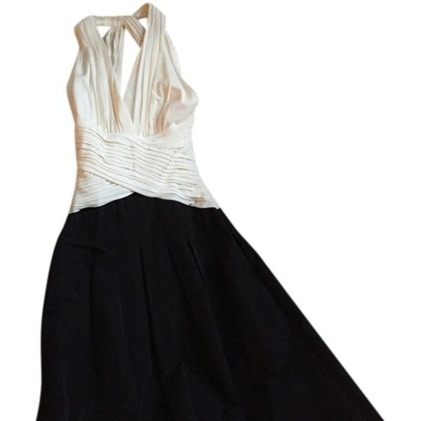 Pre Owned Bcbgmaxazria Black And White Ball Gown Classic 154
