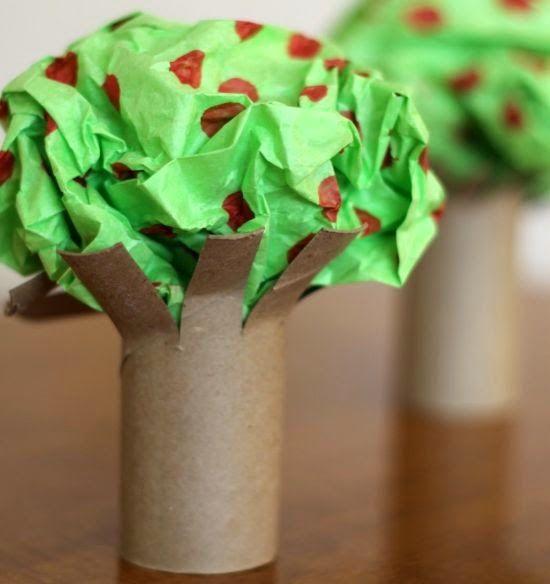 Cmo hacer rboles con tubos de cartn de papel higinico reciclados