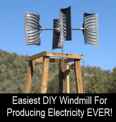 Easiest DIY Windmill For Producing Electricity Ever! #alternativeenergy