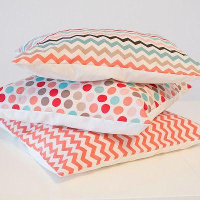 Finandfancy Stickdateien - Embroidery Designs: Kissen Set Chevron und Polka Dots Pastell
