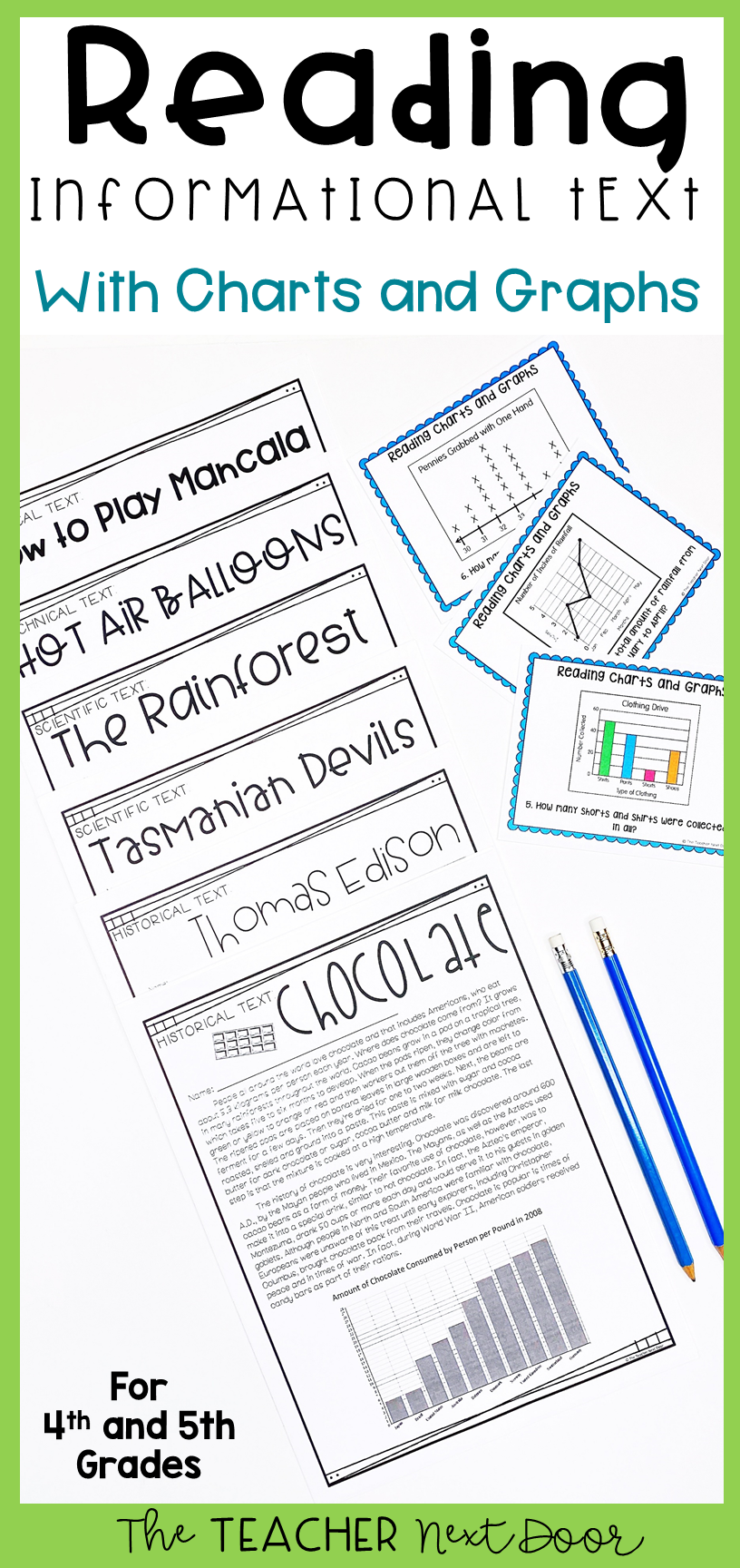 Reading Informational Text With Charts And Graphs For 4th 5th Grades Reading Informational Texts Charts And Graphs Informational Text [ 1728 x 816 Pixel ]