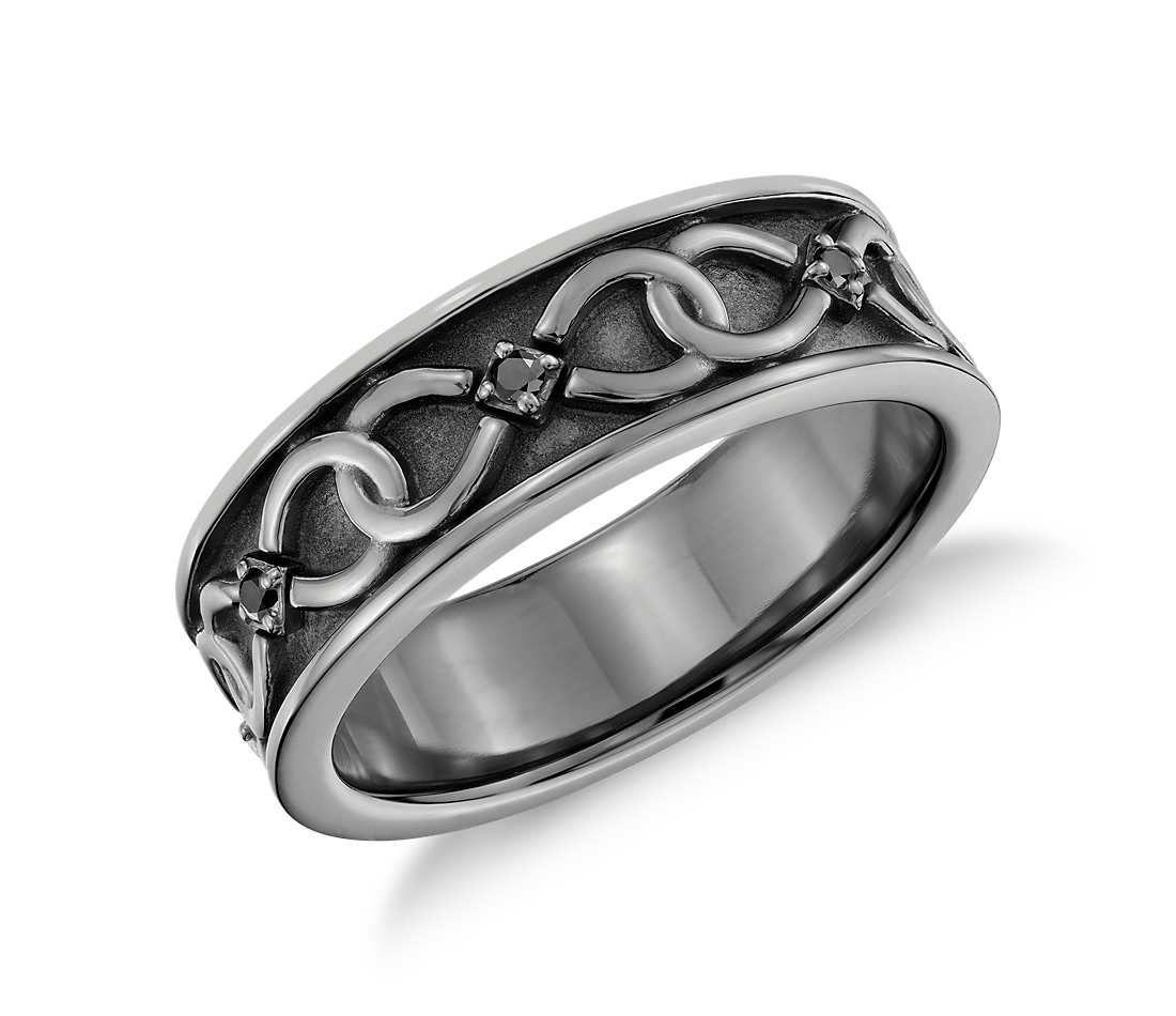 Colin Cowie Black Diamond Infinity Wedding Ring in