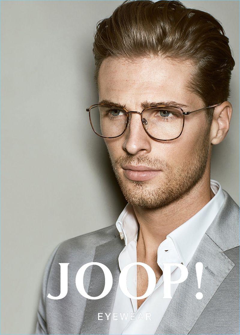A Smart Vision Edward Wilding Fronts Joop S Spring Summer 2017 Eyewear Campaign Mens Eyewear Glasses Mens Glasses Fashion Men Eyeglasses