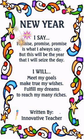 New Year Poem   Education   Pinterest   Poem, Teacher pay teachers ...