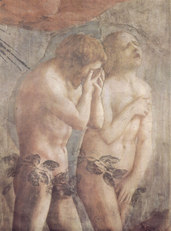 """Ausschnitt von """"Vertreibung aus dem Paradies"""", Masaccio"""