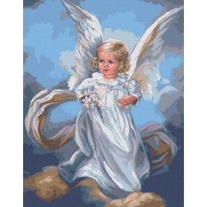 Ангел небесный Раскраска картина по номерам акриловыми ...