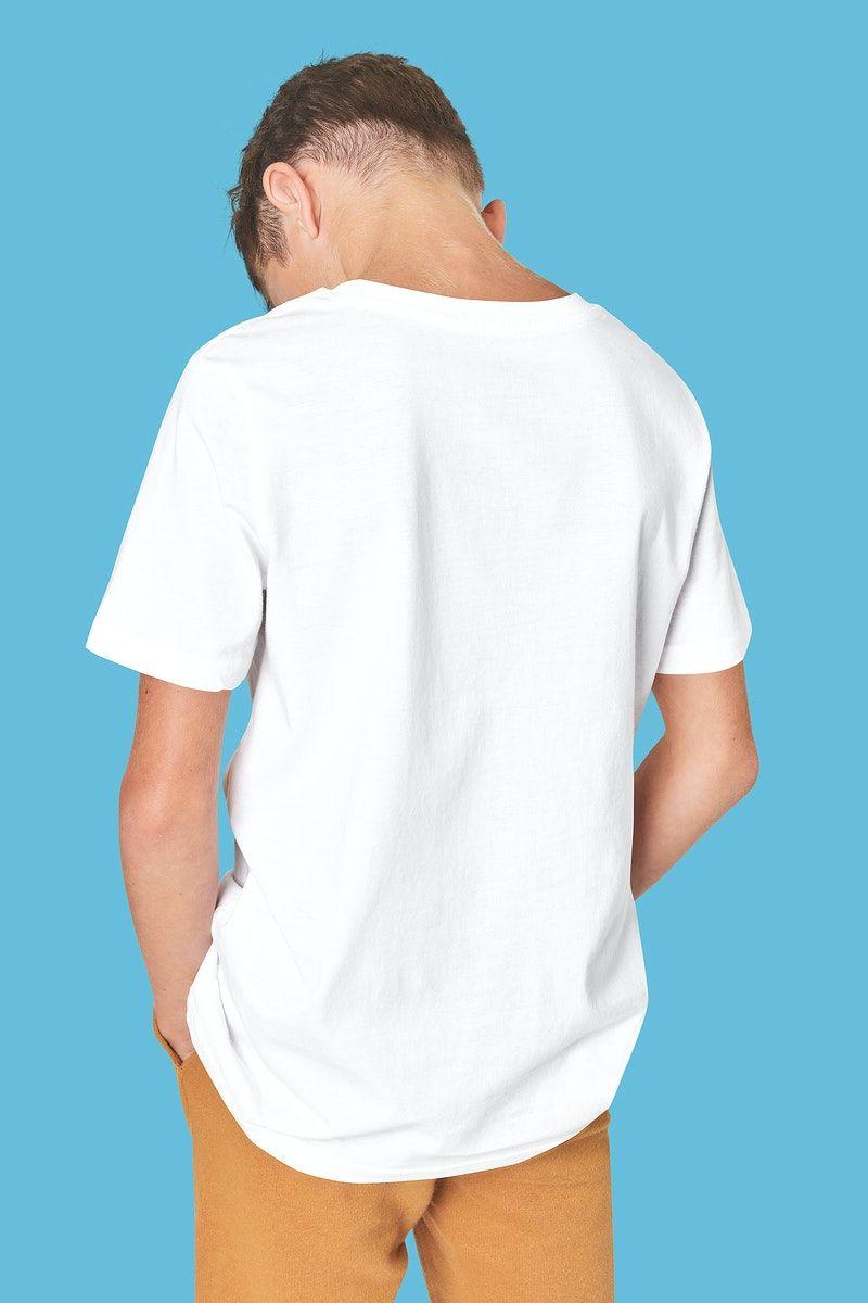 Download Premium Illustration Of Back View Man S White T Shirt Psd T Shirt White Tshirt Shirts