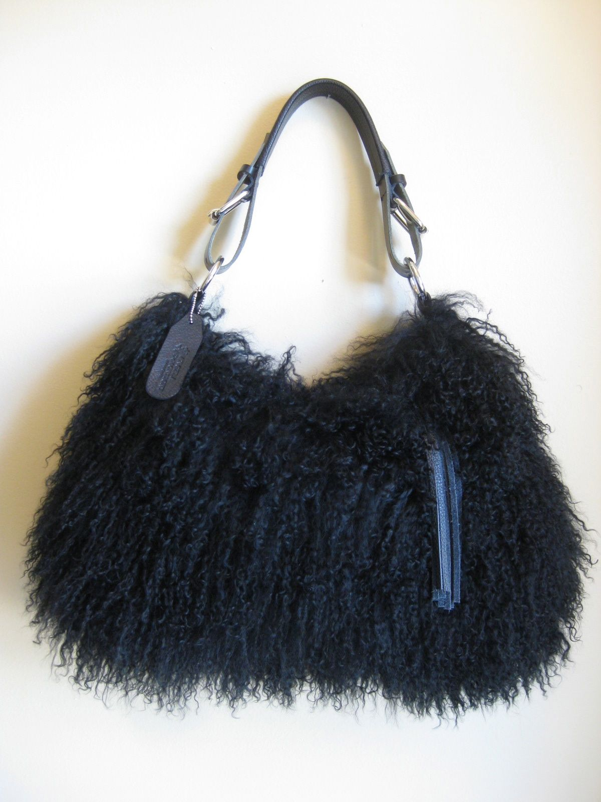 Angela Demontigny Mongolian Lamb Fur Bag 795