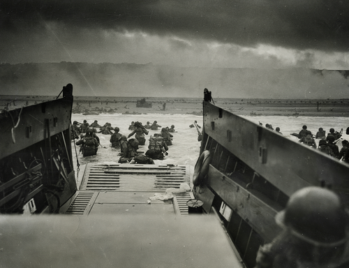WWII. Hitting the Coast of Normandy, June 4, 1944