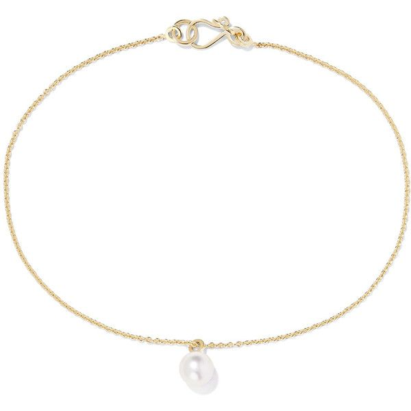 Sophie Bille Brahe Palme De Perle 14-karat Gold Pearl Anklet 8R9bx3H4Ae