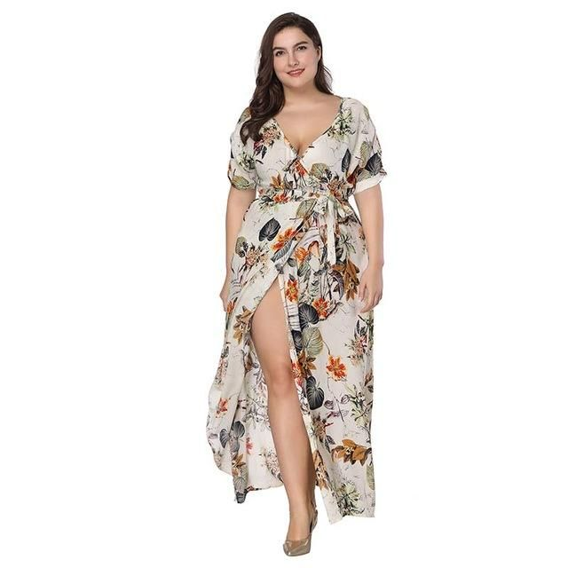 Floral Boho Maxi Dress Plus Size