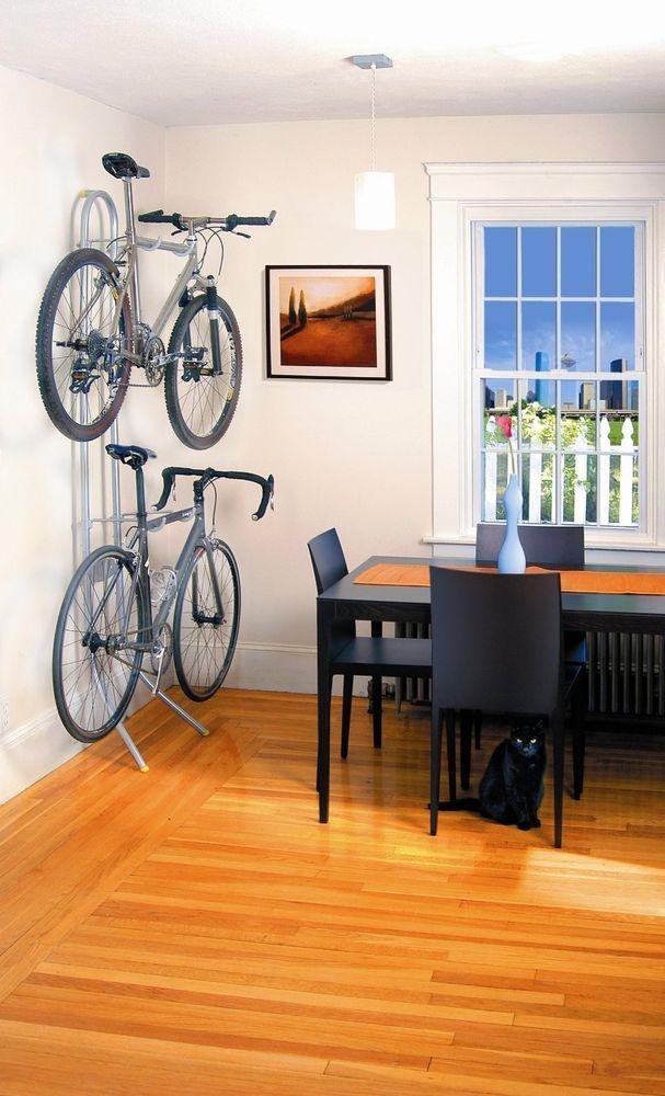 2 Bike Gravity Stand Home Garage Apartment Wall Mount Lawn Tools Storage Rack Bike Storage Garage Bicycle Storage Bicycle Storage Rack