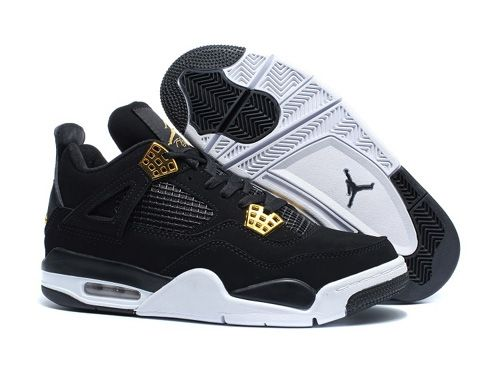 jordan retro 4 mens black and gold