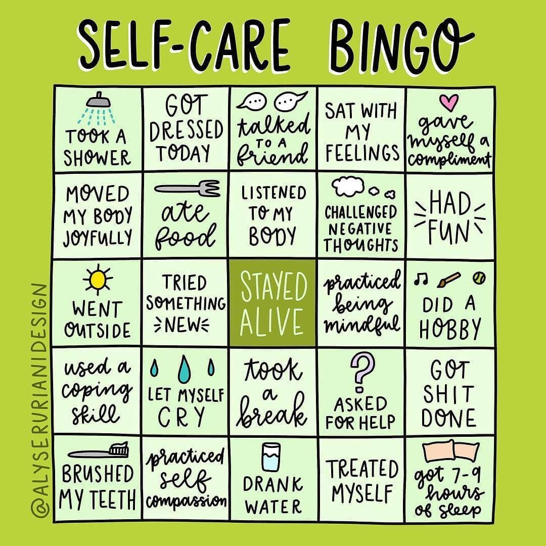 Viola Davis On Instagram Let S Play Bingo Self Care Is