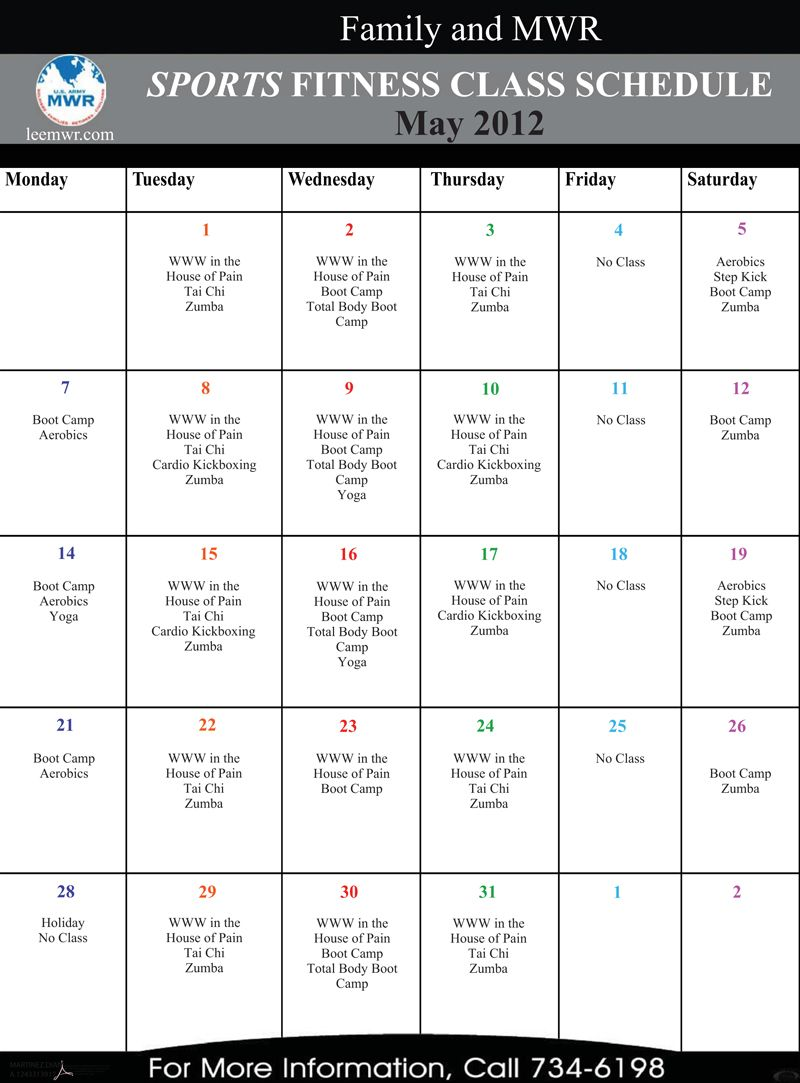 fort lee's sports fitness class schedule. | la fitness | pinterest