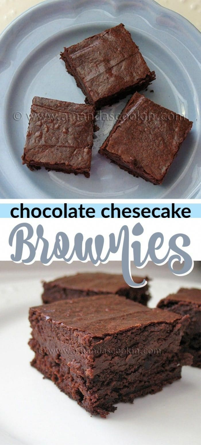 These Chocolate Cheesecake Brownies are rich and sinful and absolutely delicious. Chocolate and che