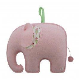 Muziekdoos Olifant Roze #babykamer | Petite Louise