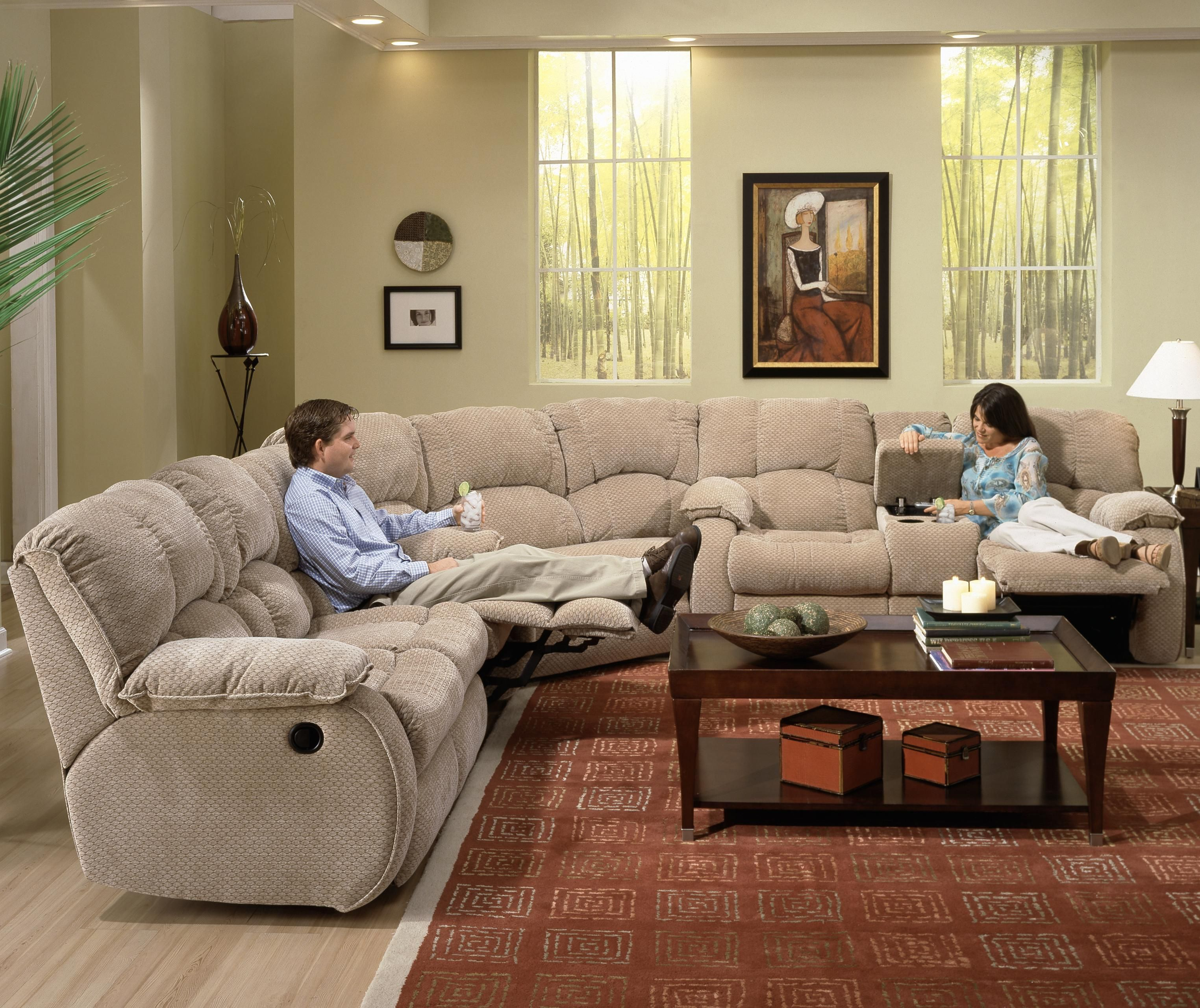Continental sectional by southern motion almost there for Berkline chaise recliner